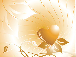 Texture Heart Elements On Flower Background