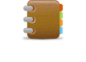 Textured Address Book Lite Plus Icon