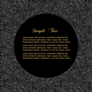 Textured Black Background With Bordered Circle For Text