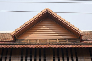 Thai roof style exterior detail background