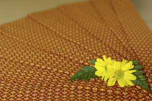 Thailand fabric spa massage with yellow flower