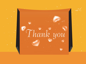 Thank You Sticky Note Isolated On Yellow Background