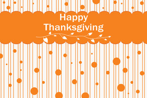Thankgiving Day Background With Dots