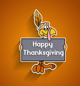 Thanksgiving Day Greeting Banner