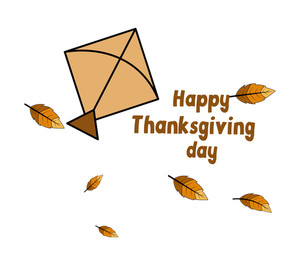 Thanksgiving Day Kite Greeting Background