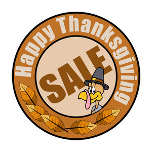 Thanksgiving Day Retro Sale Banner