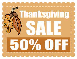 Thanksgiving Day Sale Coupon Banner