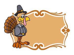 Thanksgiving Day Turkey Banner