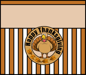 Thanksgiving Day Turkey Character Vector Background