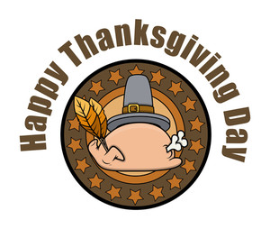 Thanksgiving Day Turkey Chicken Vector Graphic