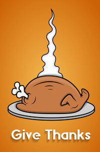 Thanksgiving Day Turkey Chicken Vector