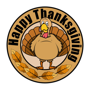Thanksgiving Day Turkey Vector Banner