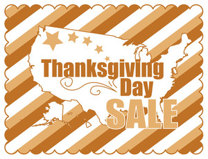 Thanksgiving Day Vintage Sale Banner