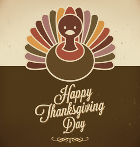 Thanksgiving Design | Retro Style Elements | Thanksgivings Day | Vintage Ornaments | Vector Art