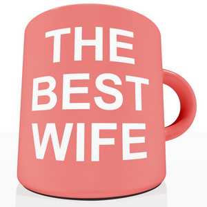 The Best Wife Mug Showing A Loving Partener