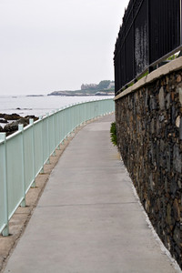 The cliff walk located in historic Newport Rhode Island.