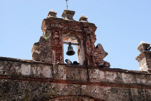 The famous pigeon park in Old San Juan Puerto Rico referred to by the local as the Parque de las Palomas.