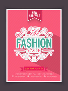 The Fashion Sale on new arrivals can be used as poster