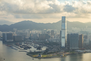 The peak Hong Kong skyline cityscape