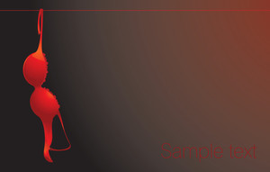The Red Bra. Vector Background.