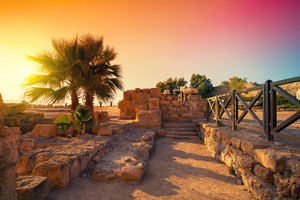 The ruins of the ancient city in Caesarea