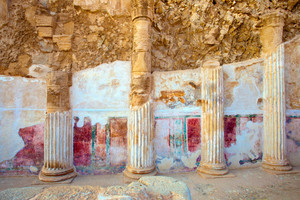 The ruins of the palace of King Herod's Masada