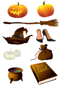 The Witch Equipment. Vector Illustration