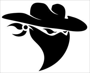 Thief Cowboy Mascot Tattoo Vector Illustration