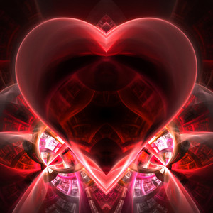 This fractal is shaped like a heart.  There is plenty of copyspace for you to add your text or photo.