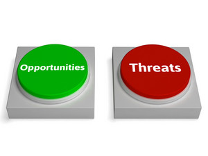 Threats Opportunities Button Shows Risk Research Analysis