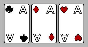 Three Ace - Cartoon Vector Illustration