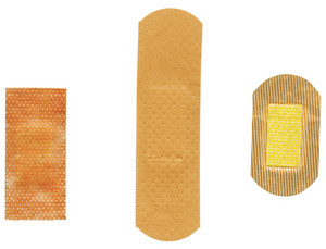 Three Different Plasters With Clipping Path