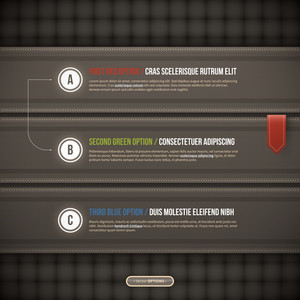 Three Elegant Options On Dark Background. Useful For Web Design Or Advertising. Eps10.