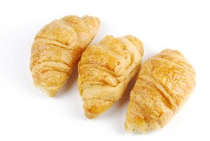 Three Fresh Croissants