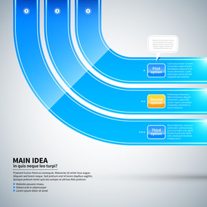 Three Glossy Curved Lines Running From Corner To Corner. It's Useful For Infographics And Advertising.
