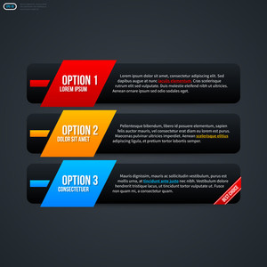 Three Horizontal Banners For Web Design. Eps 10