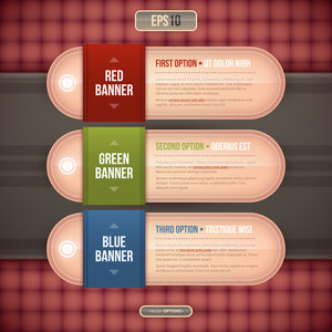 Three Horizontal Banners/options For Advertising Or Web Design. Eps10.