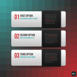 Three Horizontal Banners. Useful For Web Design. Eps10.
