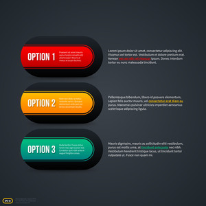 Three Horizontal Options For Web. Eps 10