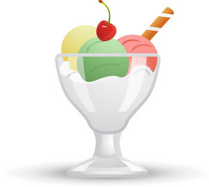 Three Scoop Ice Cream Sundae Icon