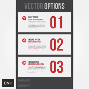 Three Simple Vector Banners/options. Eps10.