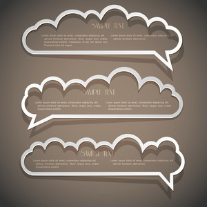Three Speech Bubbles From Paper