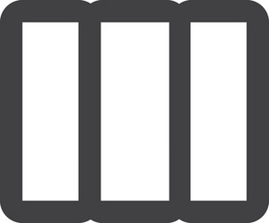 Three Vertical Bars Stroke Icon