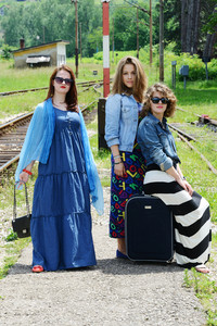 Three women traveling