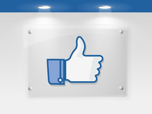 Thumb Up Like Button Or Thumbs Up Presentation On Sign Board. Eps10