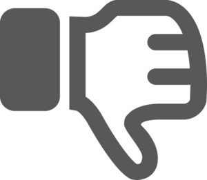Thumbs Down Stroke Icon