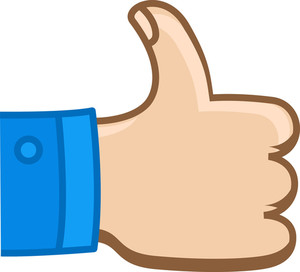 Thumbs Up - Cartoon Vector