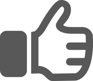 Thumbs Up Stroke Icon