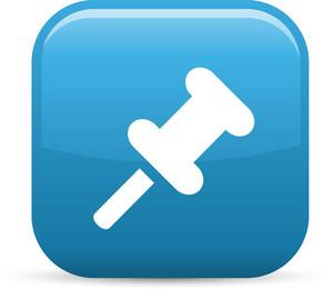 Thumbtack Elements Glossy Icon