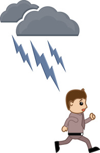 Thunder Lightning - Cartoon Vector Illusatrtion